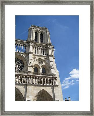 Notre Dame Cathedral Paris Tower Framed Print by Stephanie Hunter
