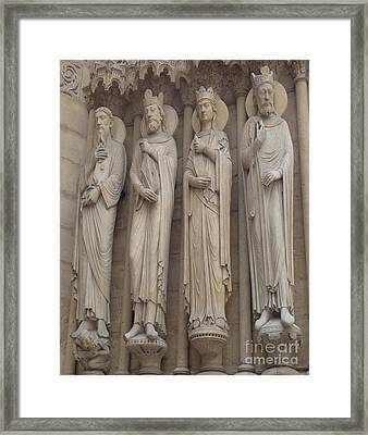 Framed Print featuring the photograph Notre Dame Cathedral Saints by Deborah Smolinske