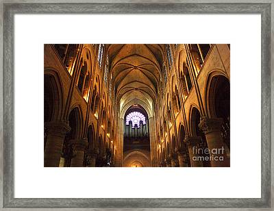 Notre Dame Ceiling Framed Print