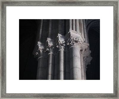 Notre Dame Column Capital Framed Print by Stephanie Hunter