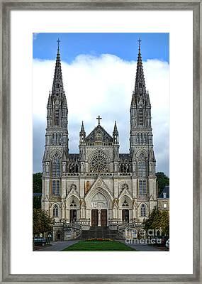 Notre Dame De Montligeon Basilica Framed Print by Olivier Le Queinec