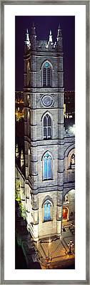 Notre Dame De Montreal At Night Framed Print by Panoramic Images