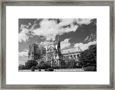 Notre Dame De Paris Framed Print by Maj Seda