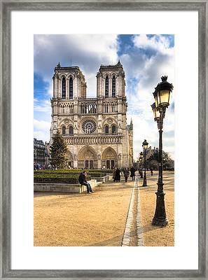 Notre Dame De Paris Reaching For The Sky Framed Print