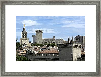 Notre-dame-des Doms Cathedral And Palais Des Papes. Avignon. France Framed Print by Bernard Jaubert