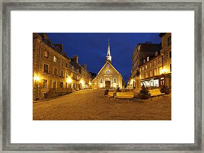 Notre Dame Des Victories And Place Royale Framed Print by Juergen Roth