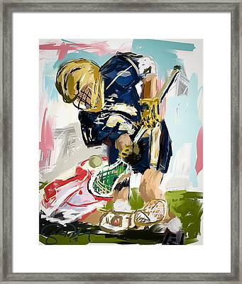 College Lacrosse Faceoff 1 Framed Print