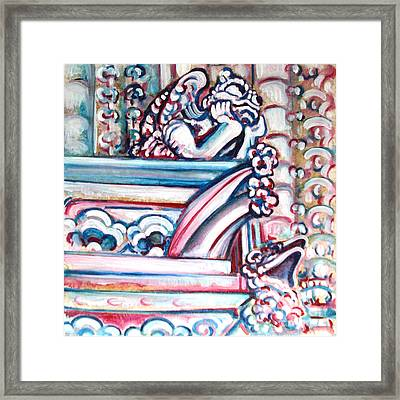 Notre Dame Gargoyle Framed Print by Bonnie Sprung