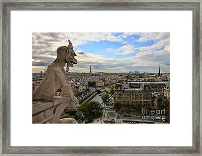 Notre Dame Gargoyle Framed Print