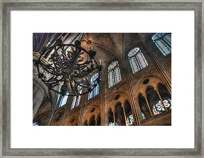 Notre Dame Interior Framed Print by Jennifer Ancker