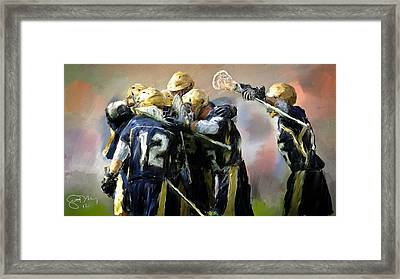College Lacrosse Celebration  Framed Print