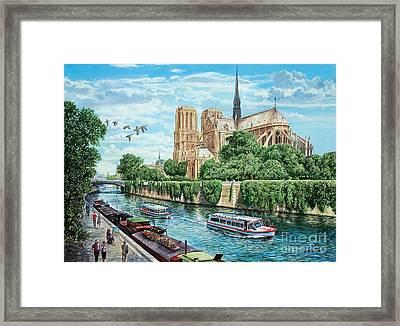 Notre Dame Framed Print by MGL Meiklejohn Graphics Licensing