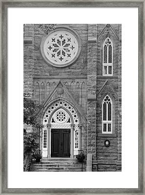 Notre Dame Of Sacred Heart  Quebec Framed Print by David Chapman