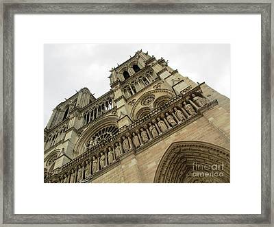 Notre Dame On A Rainy Day Framed Print