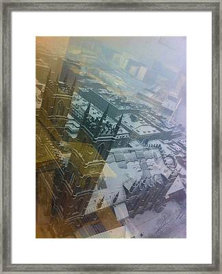Notre Dame On The Vertical Framed Print by Valerie Rosen