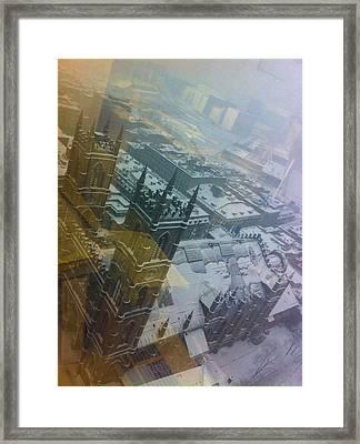 Notre Dame On The Vertical Framed Print
