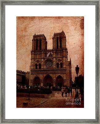 Notre Dame - Paris Framed Print by Soumya Bouchachi