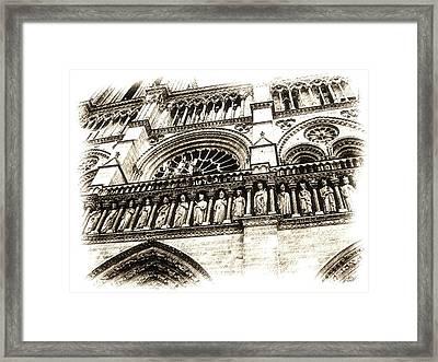 Notre Dame Pencil Framed Print