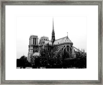 Notre Dame Framed Print by Rita Haeussler