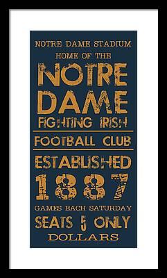 Notre Dame Framed Prints