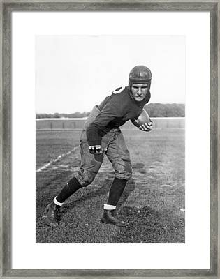 Notre Dame Star Halfback Framed Print by Underwood Archives