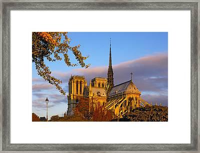 Notre Dame Sunrise Framed Print