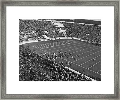 Notre Dame-usc Football Game Framed Print