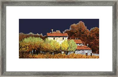 Notte In Campagna Framed Print by Guido Borelli