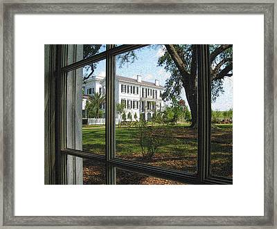 Nottoway Through The Window Framed Print