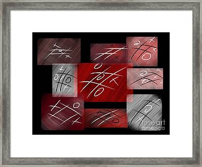 Noughts And Crosses Framed Print by Rob Hawkins
