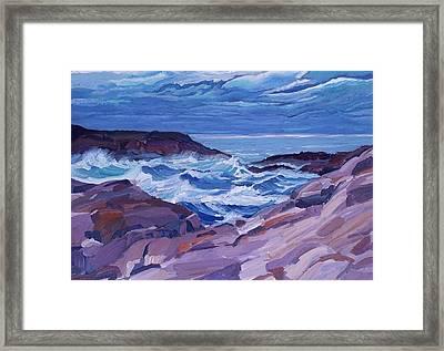 Nova Scotia Coast Framed Print by Janet Ashworth