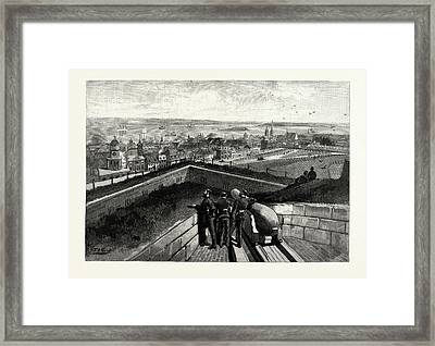 Nova Scotia, Halifax, From Citadel, Canada Framed Print by Canadian School