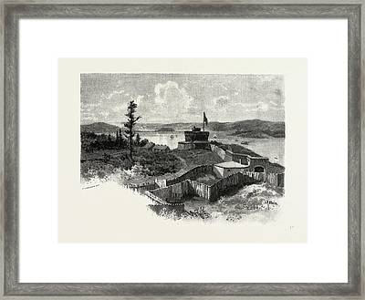 Nova Scotia, Halifax From York Redoubt, Canada Framed Print by Canadian School