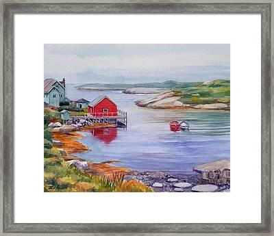 Nova Scotia Harbor Framed Print by Janet  Zeh