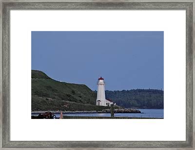 Nova Scotia Lighthouse Framed Print by Nancy De Flon