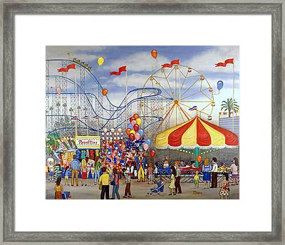 Novelties At The Carnival Framed Print by Linda Mears