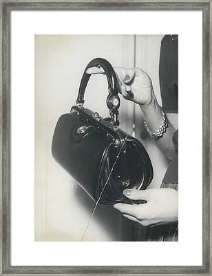 Novelty In Lady Bags Framed Print by Retro Images Archive