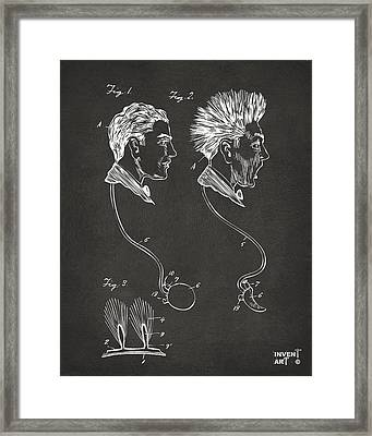 Novelty Wig Patent Artwork Gray Framed Print