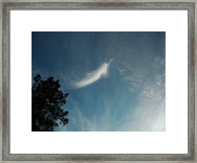 First Angel Appearance Framed Print