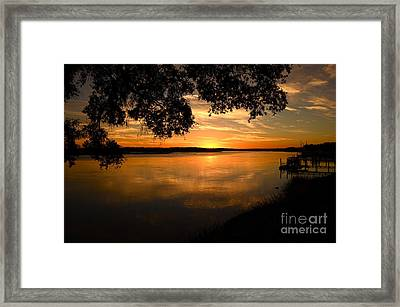 November 4 2013 Sunset Framed Print