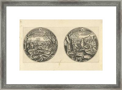 November And December, Adriaen Collaert, Hans Bol Framed Print by Adriaen Collaert And Hans Bol And Hans Van Luyck