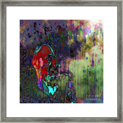 Framed Print featuring the digital art November Coming by Mojo Mendiola
