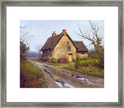 November Cottage  Framed Print by Michael Swanson
