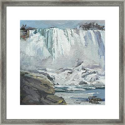 November Falls At Niagara Framed Print by J R Baldini IPAP