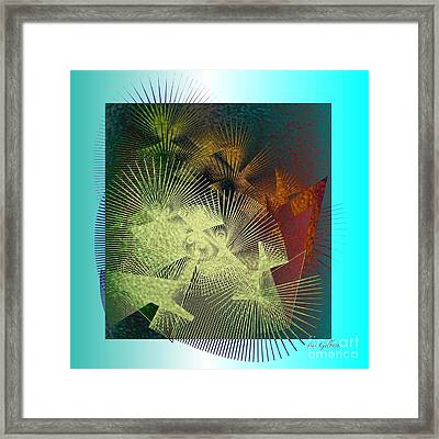 Framed Print featuring the digital art November by Iris Gelbart