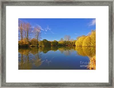 November Lake 1 Framed Print