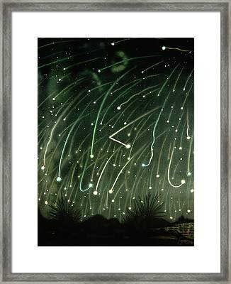 November Meteors Framed Print by Miriam And Ira D. Wallach Division Of Art, Prints And Photographs/new York Public Library