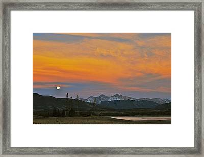 November Moonrise Framed Print by Bob Berwyn