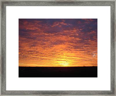 Framed Print featuring the photograph November Morn by J L Zarek
