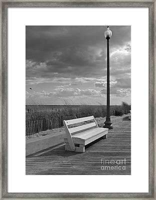 November On The Boardwalk Framed Print